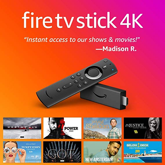 Fire Tv Streaming Stick With Alexa Built In 4k Ultra Hd Dolby Vision Fire Tv Stick Fire Tv Voice Remote