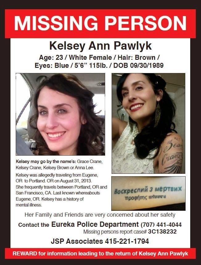 Kelsey Pawlyk Missing from Oregon may have traveled to California - missing person picture