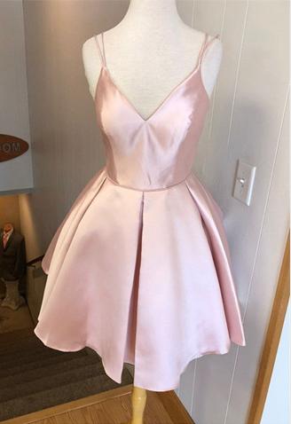 Cute Spaghetti Straps A-Line Homecoming Dresses,Short Prom Dresses,Cheap Homecoming Dresses, Graduation Dress, Formal Women Dress,Z394