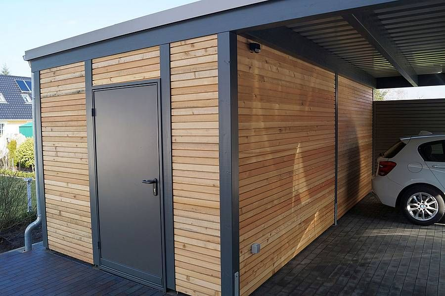 abstellraum carpot pinterest abstellraum carports aus holz und holz stahl. Black Bedroom Furniture Sets. Home Design Ideas