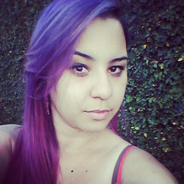 Purple and Pink hair.