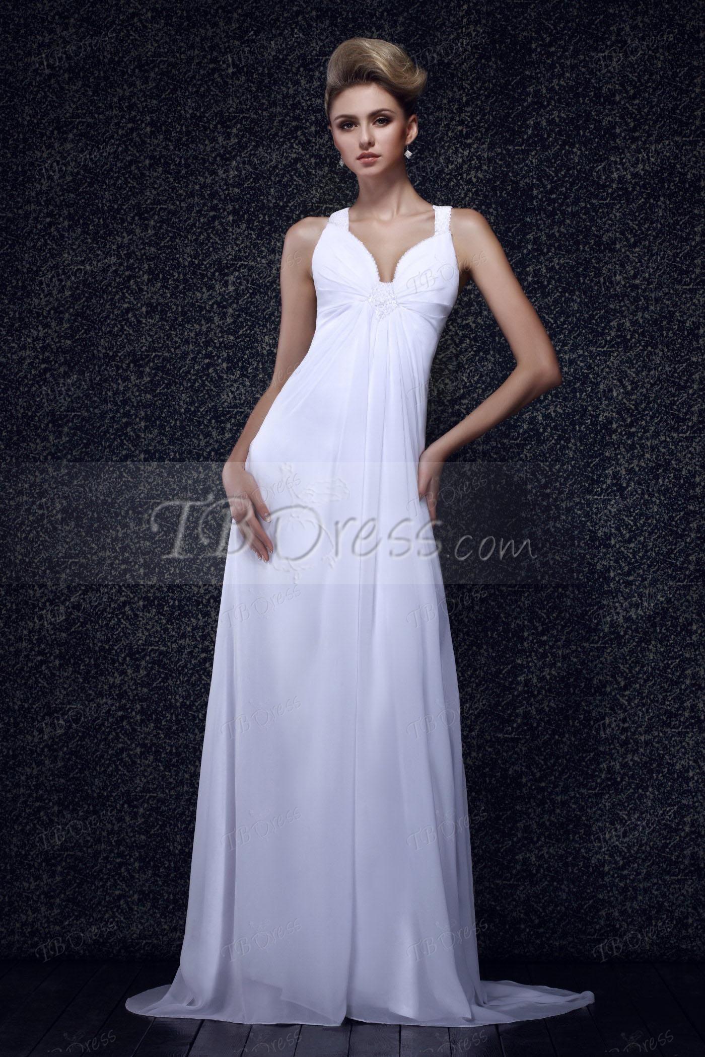 Classic vneck long beading column dashaus eveningprom dress