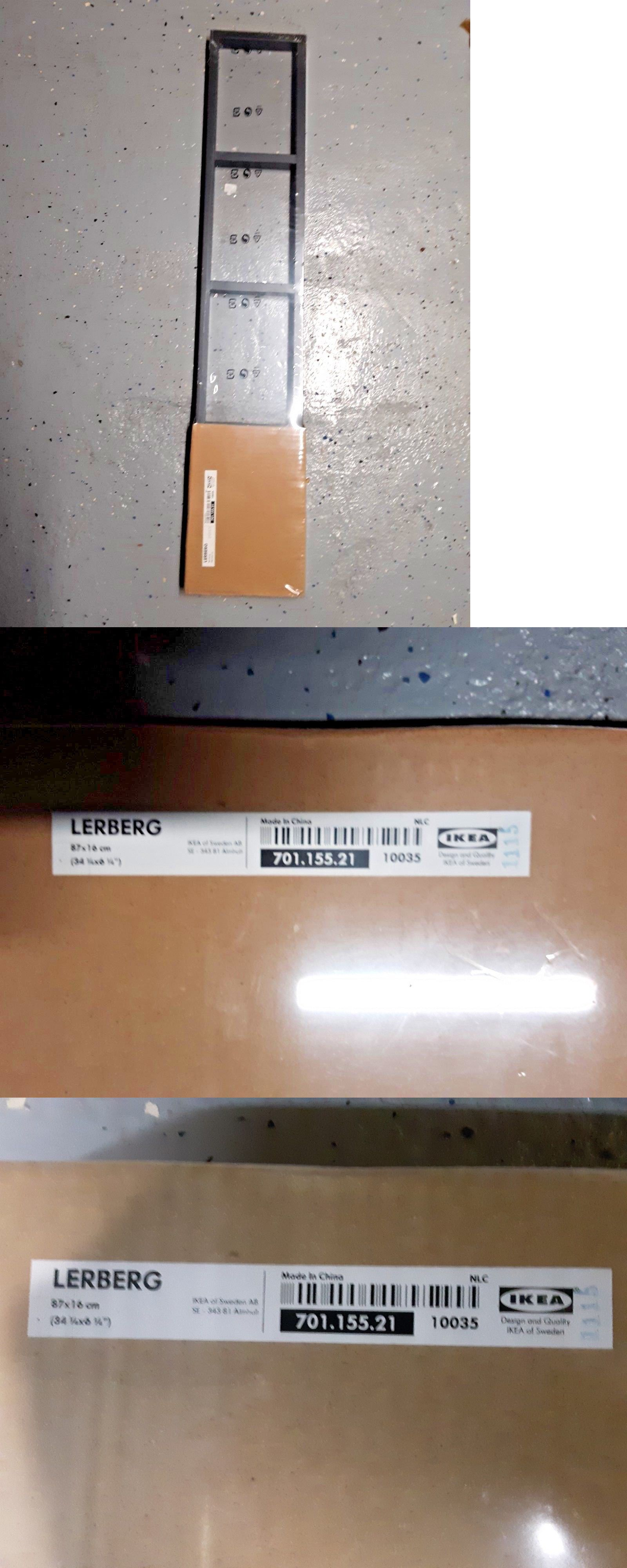 Cd And Video Racks 22653 New Ikea Lerberg Wall Mount Media Shelf Rack Dvd Blu Ray Black It Now Only 21 95 On Ebay