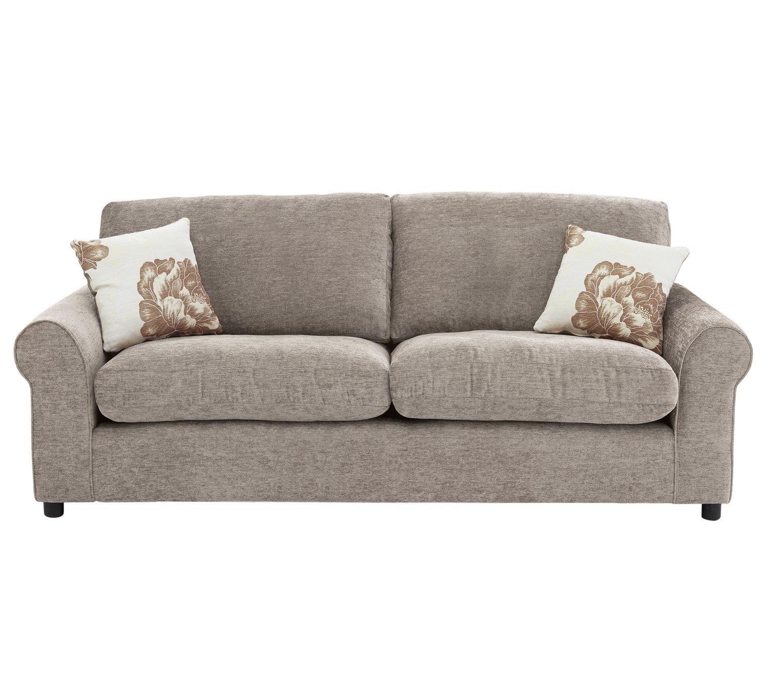 Buy home tessa fabric pair of 3 seater sofas mink sofa sets argos