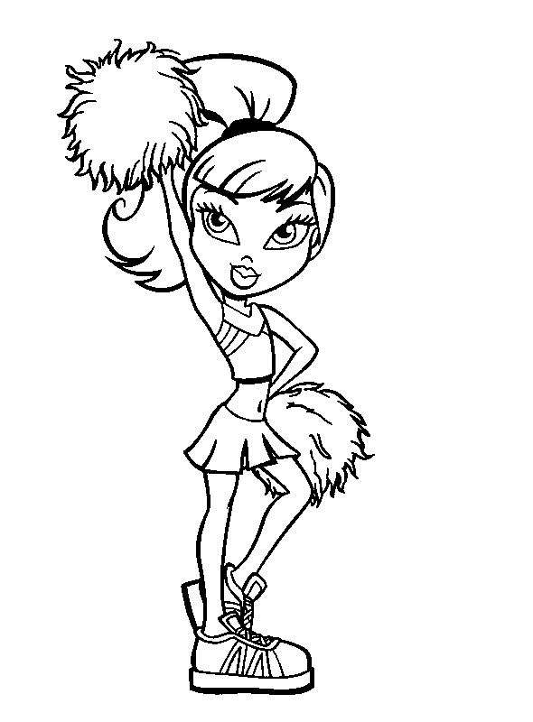 Bratz Cheerleader Coloring Pages For Kids Printable