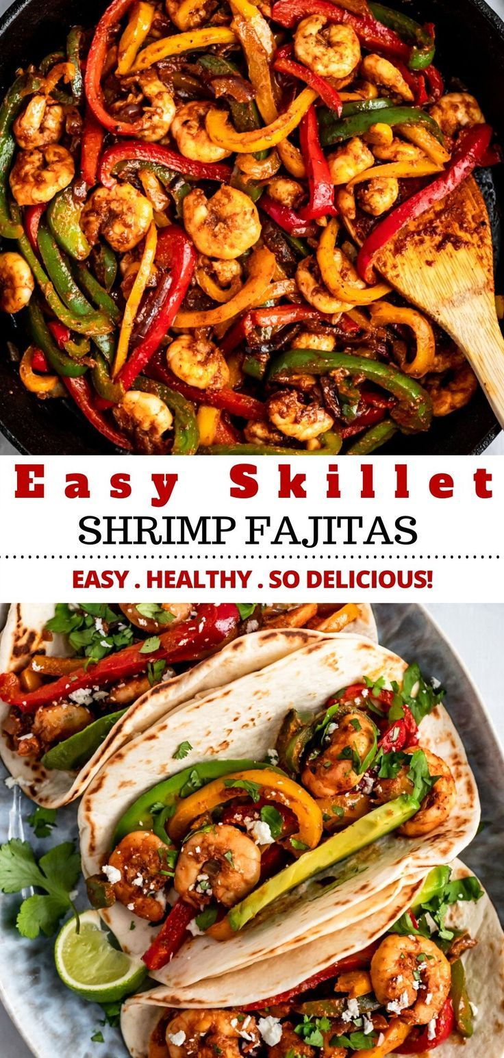 Easy Shrimp Fajitas is the perfect dinner the whole family will love!