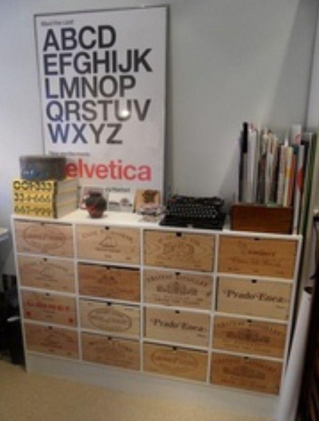 Drawer Unit Made Up Using Wine Crates Wine Crate Shelf Wine