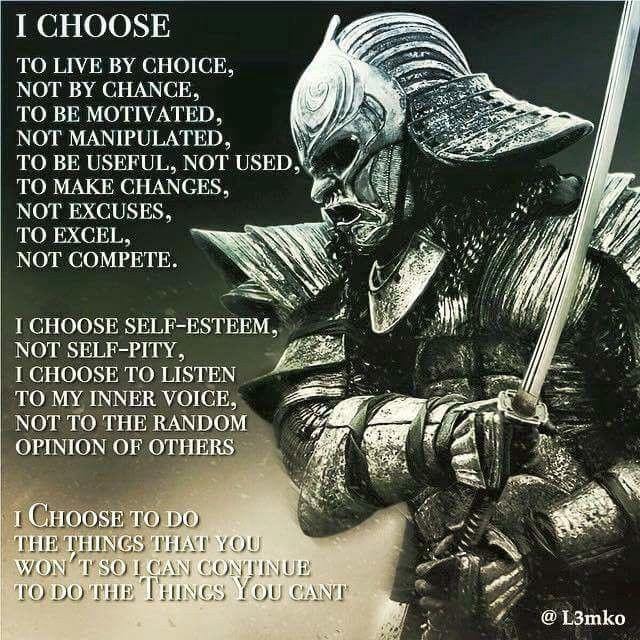 I choose...