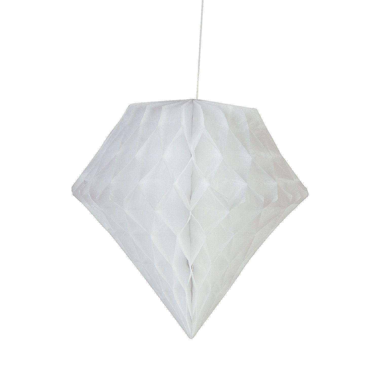 White Diamond Tissue Paper Hanging Decorations | Hanging decorations ...