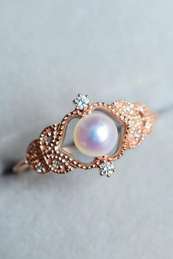 30 Pearl Engagement Rings For A Beautiful Romantic Look