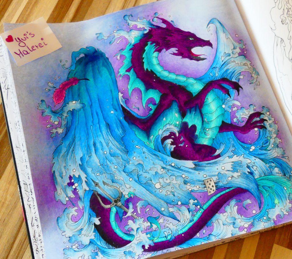 Drache aus mythomorphia color inspirations pinterest coloring