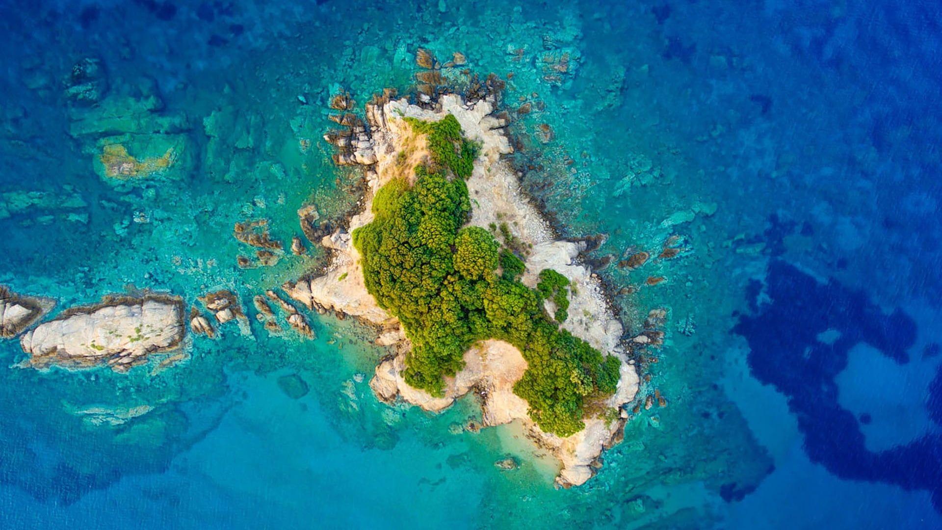 Drone Photography Ocean Sea Drone View Island Aerial View Islet Uninhabited Island 1080p Wallpaper Hdwallpaper Des Eiland Griekse Eilanden Landschappen