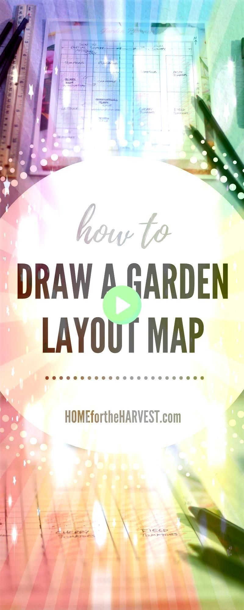 to Draw a Garden Layout Map  Home for the HarvestHow to Draw a Garden Layout Map  Home for the Harvest Free Garden Plan Printable Planner Seed Order Seed Inventory Square...
