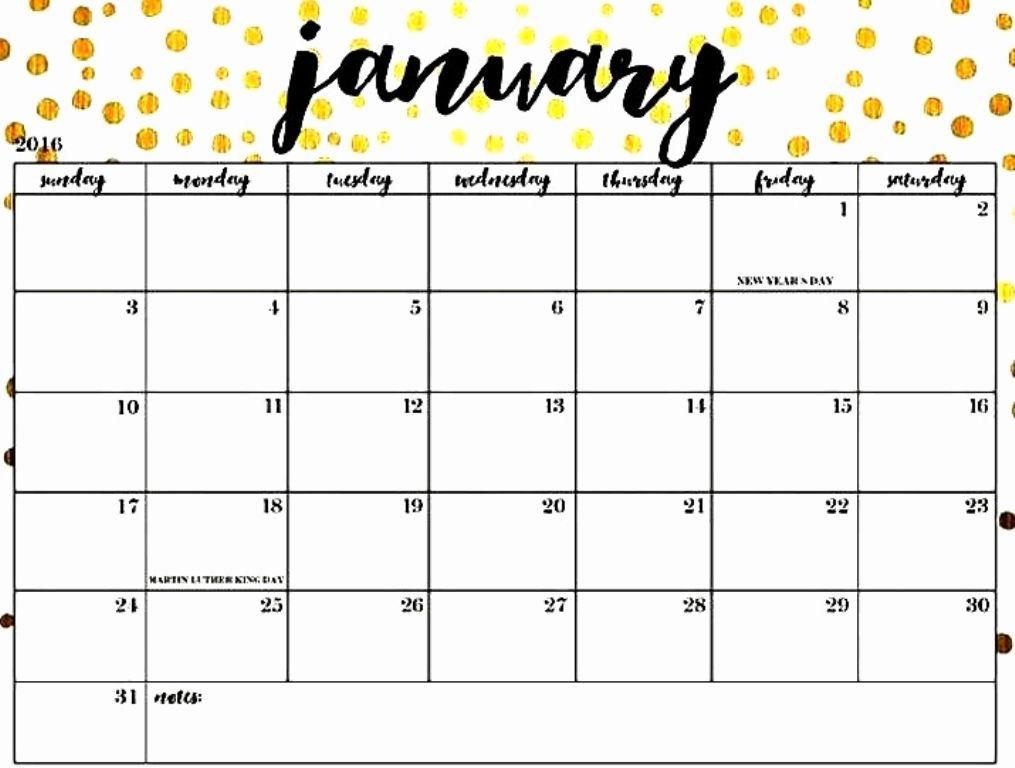 january 2019 cute calendar printable