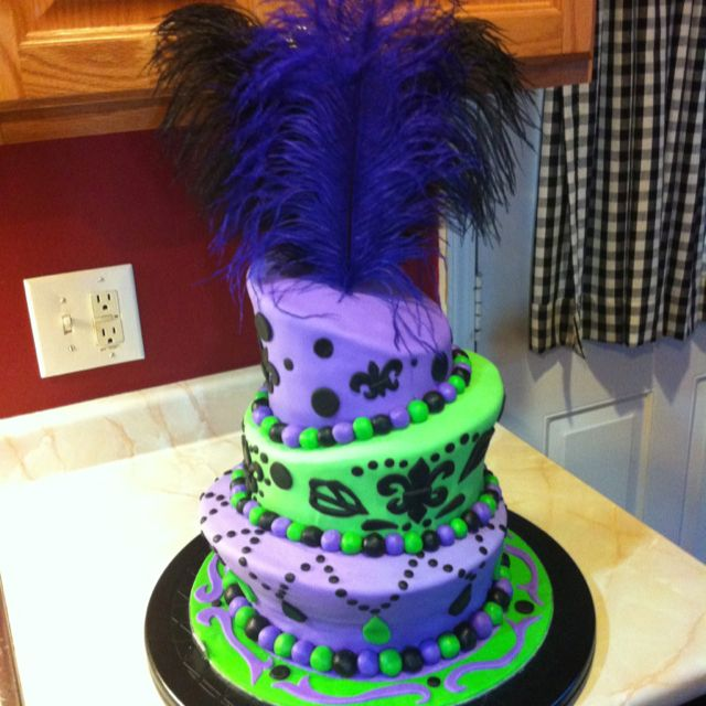 19th Birthday Cake New Orleans Themed Of Course