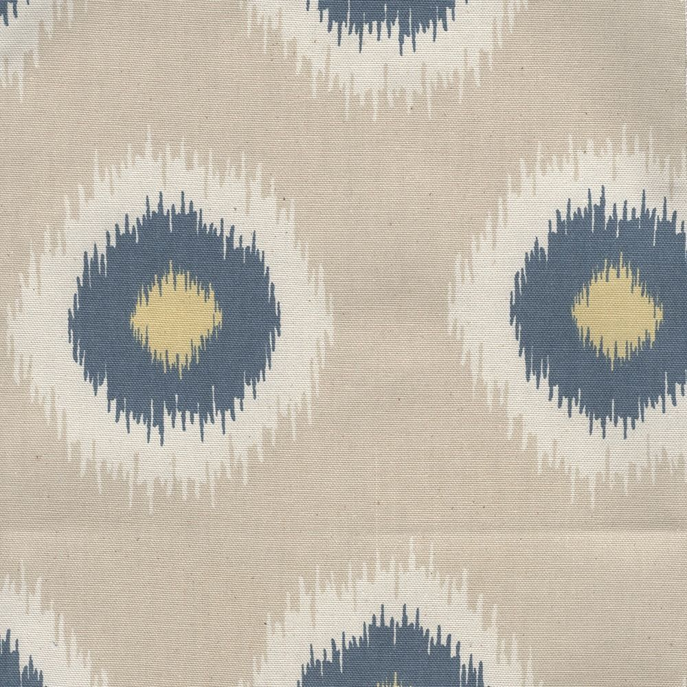 Ikat domino is a lovely fabric that adds interest without being