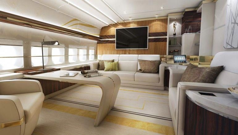 Greenpoint boeing jaw dropping private aircraft interiors interiorwithplants also rh pinterest