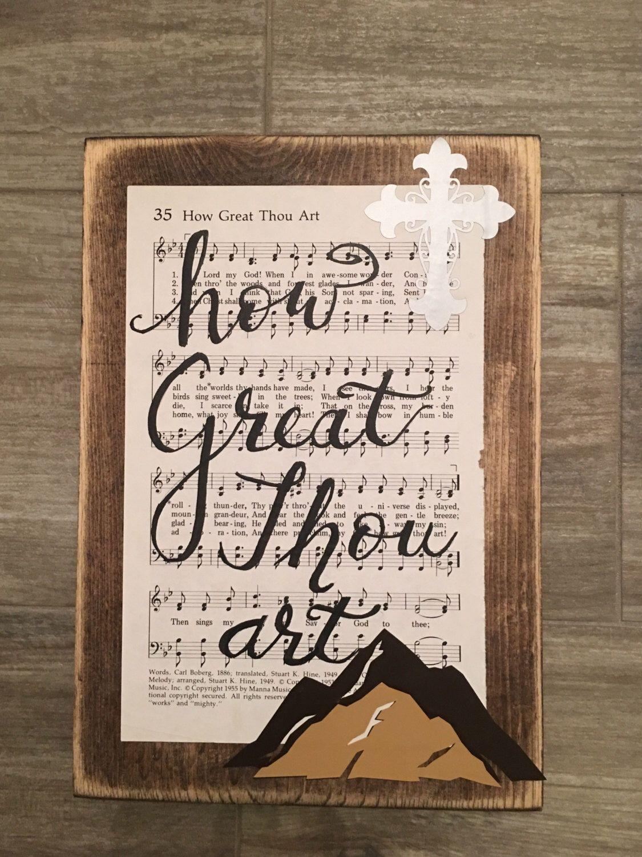 How Great Thou Art Hymn Board Hymn Art Wood Sign Hand