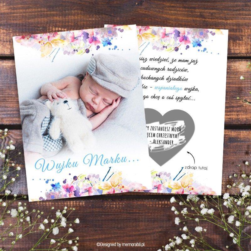 Zostaniesz Rodzicem Chrzestnym Akwarela Kwiaty Kartka Zdrapka Book Cover Books Frame