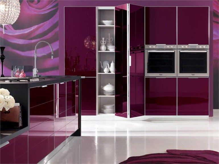 Kuhonnyj Garnitur Brillant Kollekciya Look System By Stosa Cucine Pink Kitchen Designs Purple Kitchen Luxury House Designs