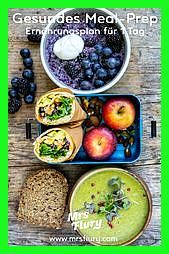 Ernährungsplan für 1 Tag  Gesundes Meal Prep Gesundes MealPrep Mrs Flury Ernährungsplan für 1 Tag gesund essen gesund kochen gesund abnehmen 1500 kcal...