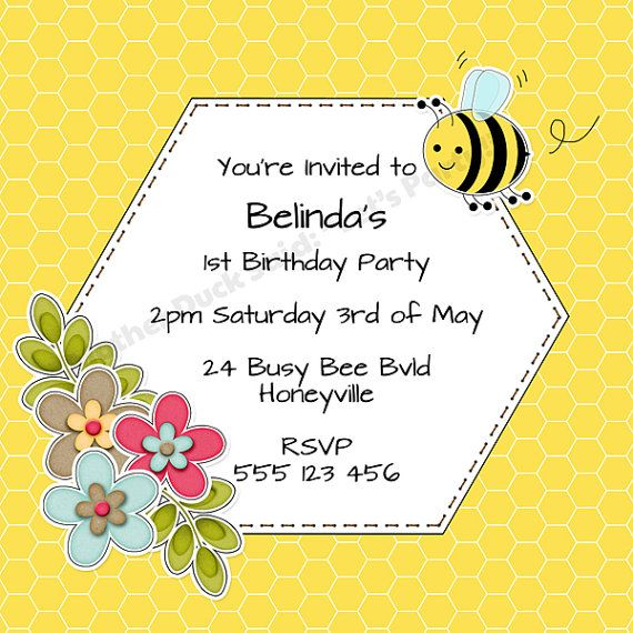busy bumble bee party invitation printable Recipes – Bumble Bee Party Invitations