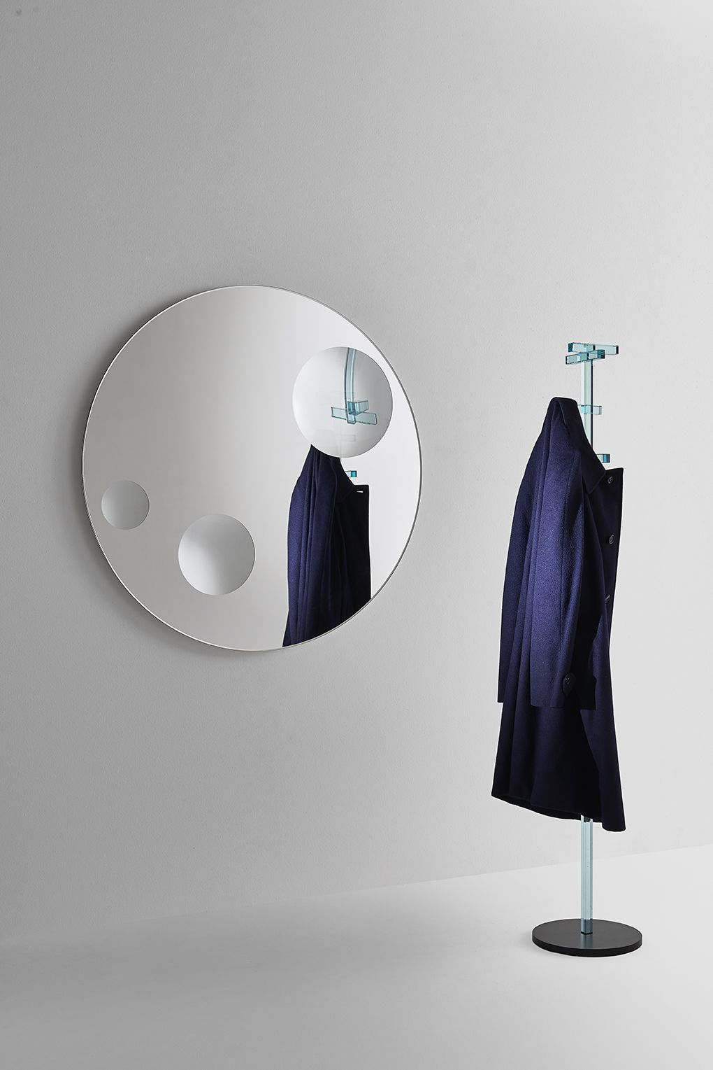 The Mirror Assumes A Magnetic Aspect Creating Surreal Effects Thanks To Three Magnifying Portholes Fixed On Flat Surface With