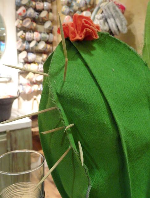 danger garden: fabric cactus at Anthropologie