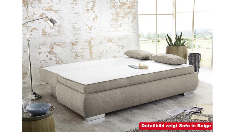 Schlafsofa Boxspring Inspirational Boxspring Schlafsofa Memphis Sofa Dauerschlafer In Grau In 2020 Moderne Couch Schlafsofa Sofa