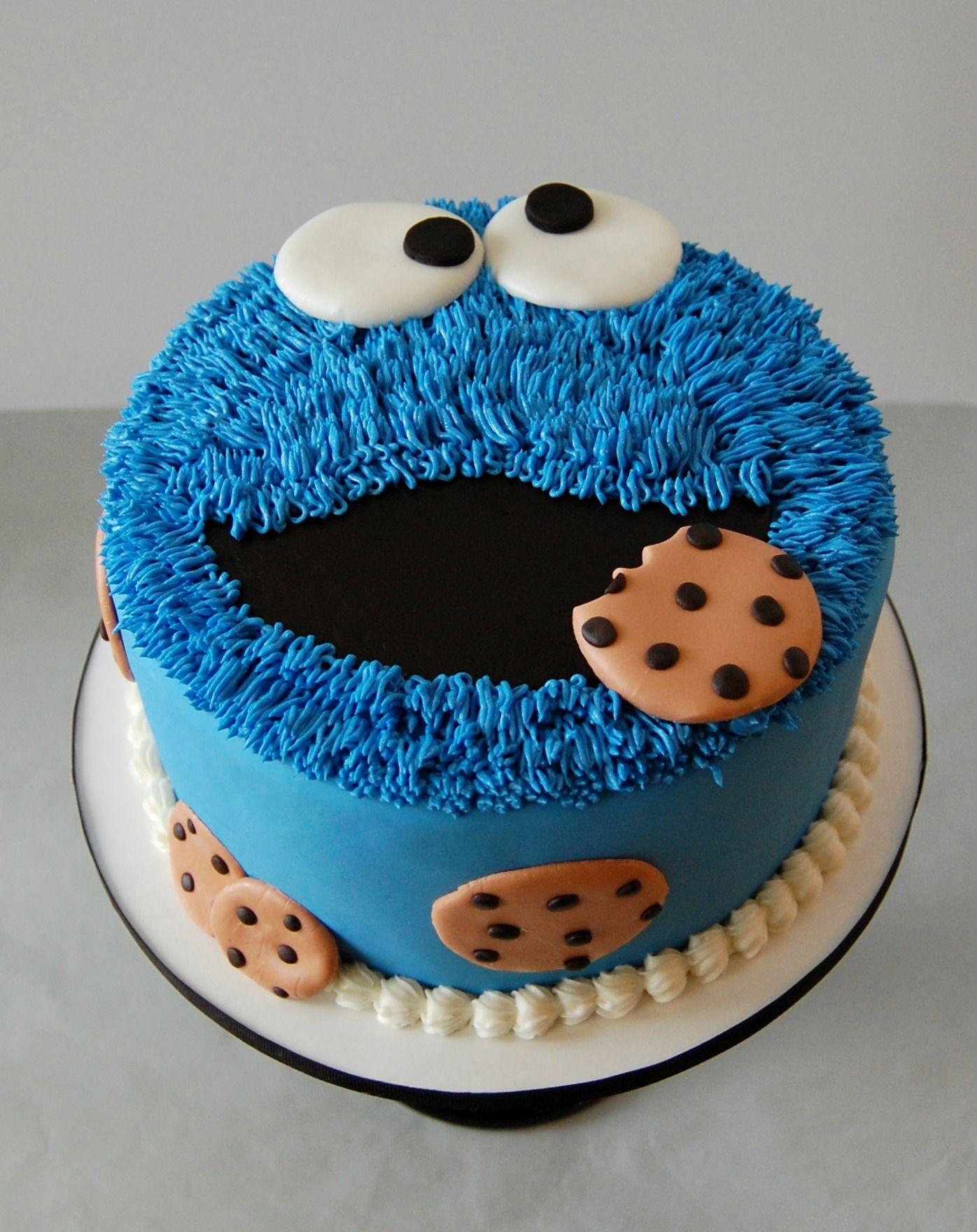 Cookie Monster Cake 1 tier 8 inch Cookie Monster cake | Alp birthday ...