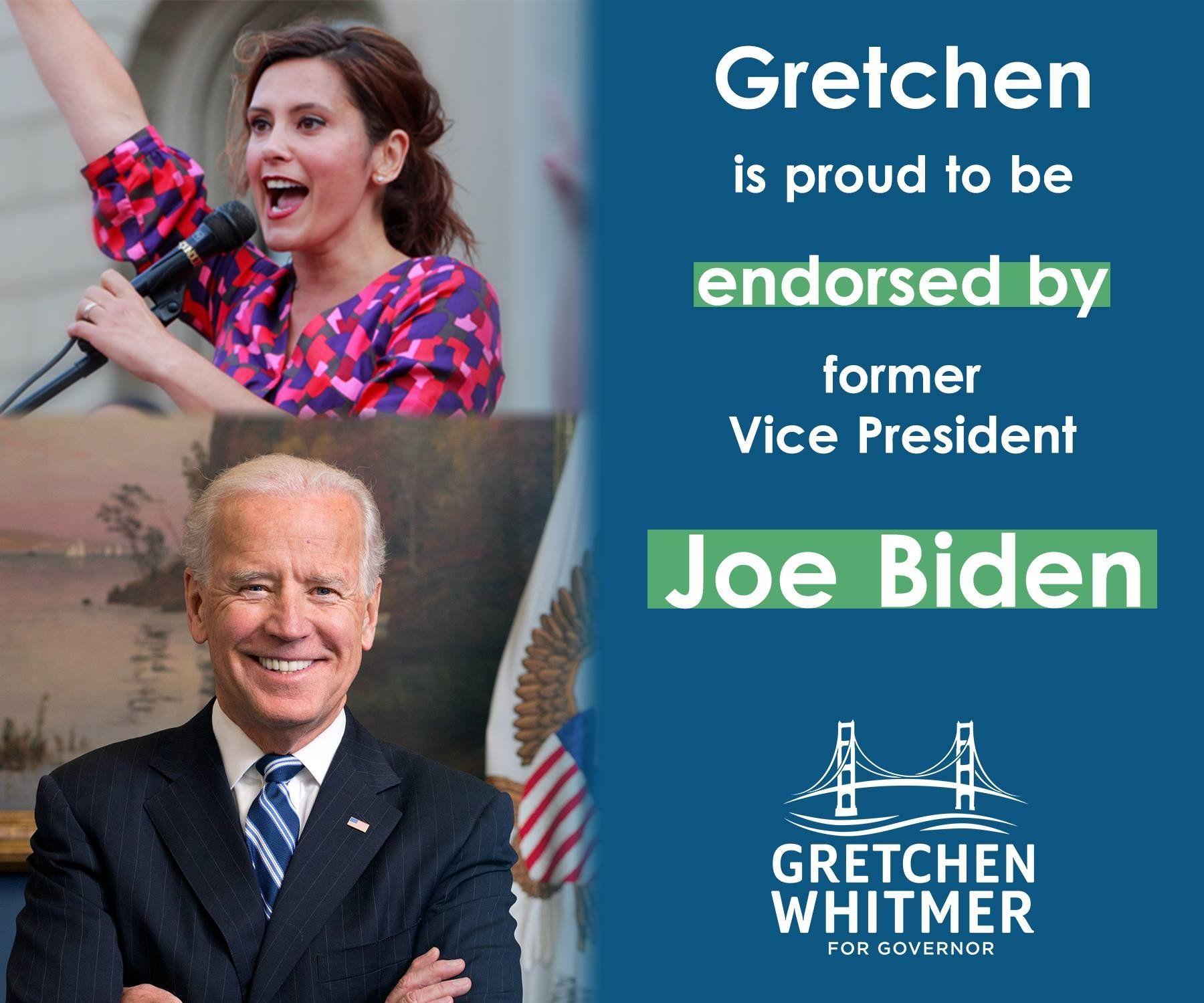 Gretchen Whitmer On Twitter Joe Biden Supportive Governor