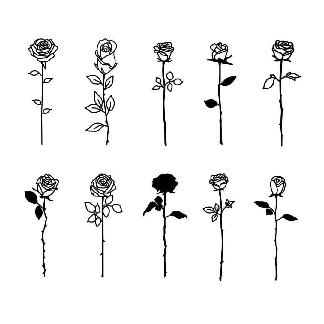 #beautytatoos | Rose drawing, Rose tattoos, Aesthetic roses