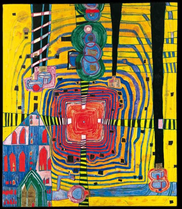 Famous Straight Line Artists : Hundertwasser avoid straight lines polymer clay