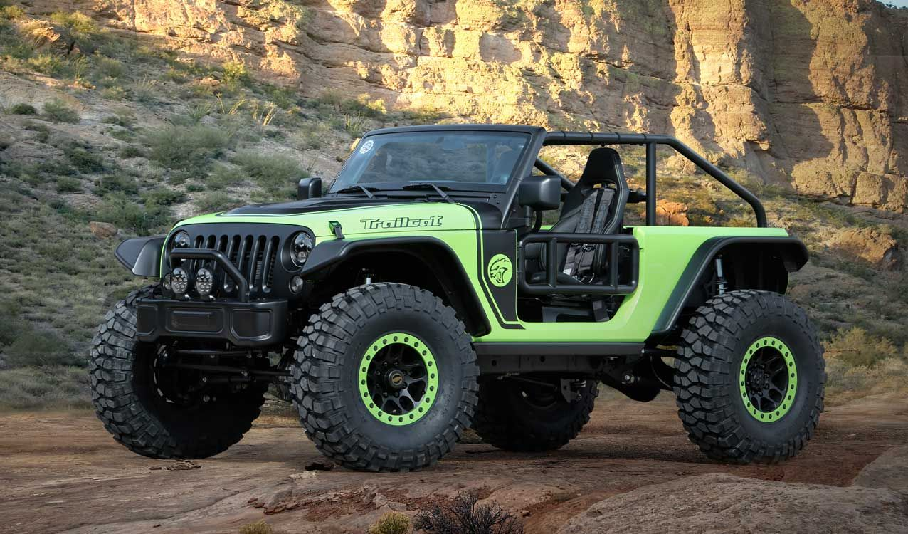 707 Hp Jeep Trailcat Based On Hellcat And Six Other Jeep Mopar