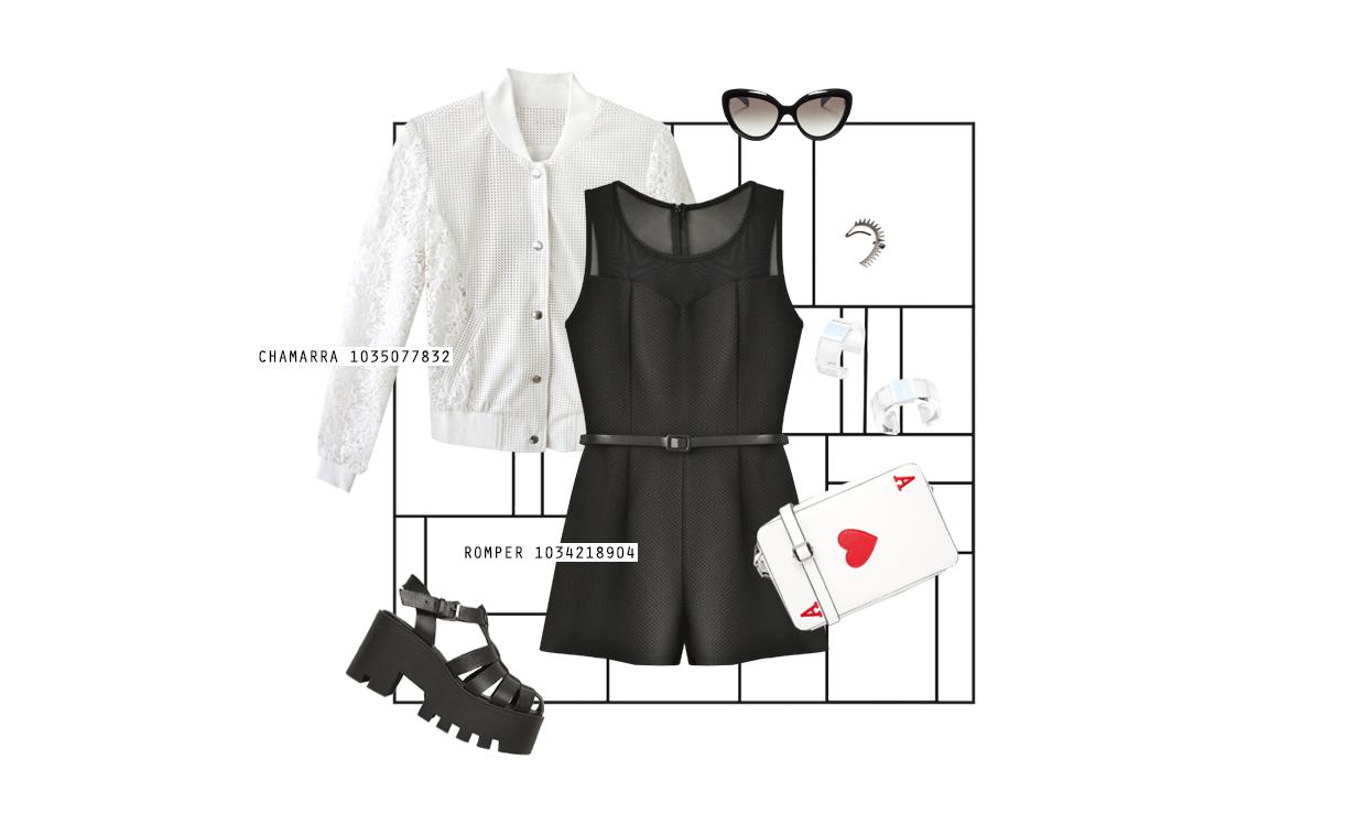 """Nuestra nueva colección """"Domino"""" es perfecta para llevar esta tendencia ya que puedes combinarla con los accesorios más edgy y lograr un look súper trendy. Los zapatos chunky son nuestros favoritos para llevar nuestro romper y los lentes cat eye se convertirán en el toque final perfecto. ¡Es un look totalmente retro que fascina!"""