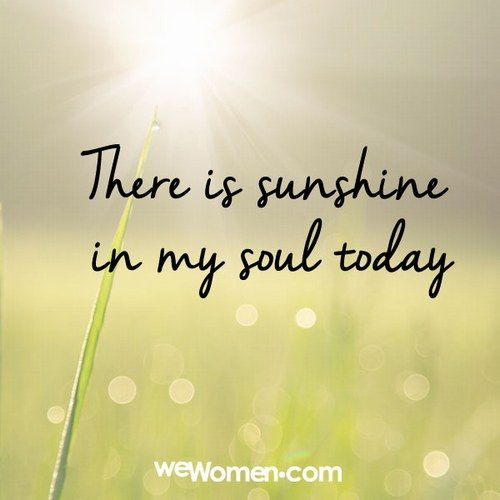 So good to finally see a sunny day | Quotes | Good happy