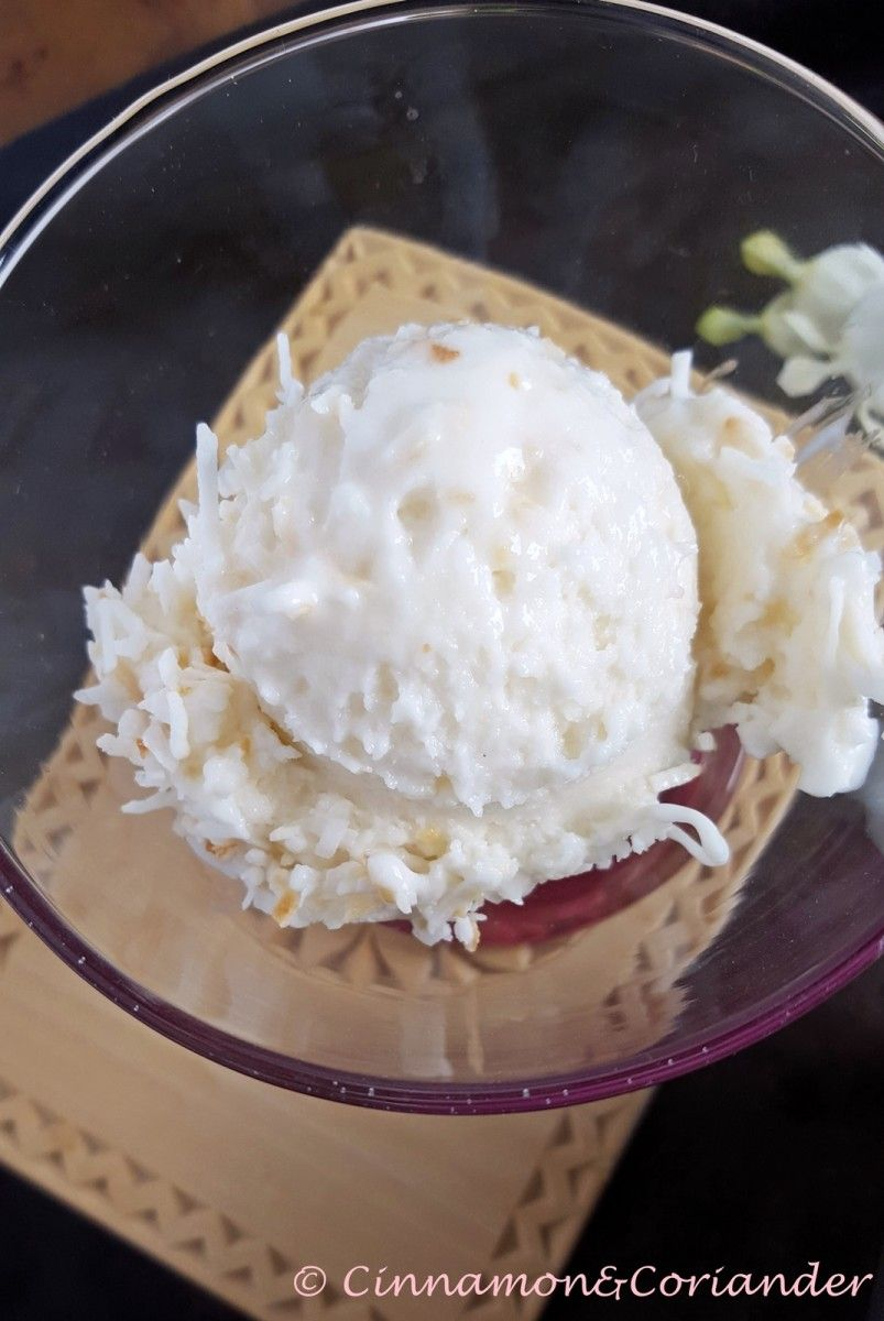 Photo of World's best coconut ice cream (Triple Coconut Ice Cream)