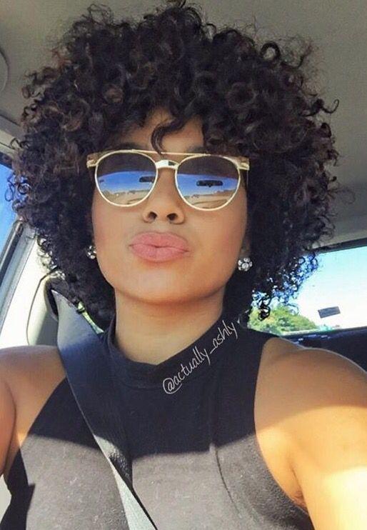 2018 Short Hairstyle Ideas For Black Women Cachos Curtos