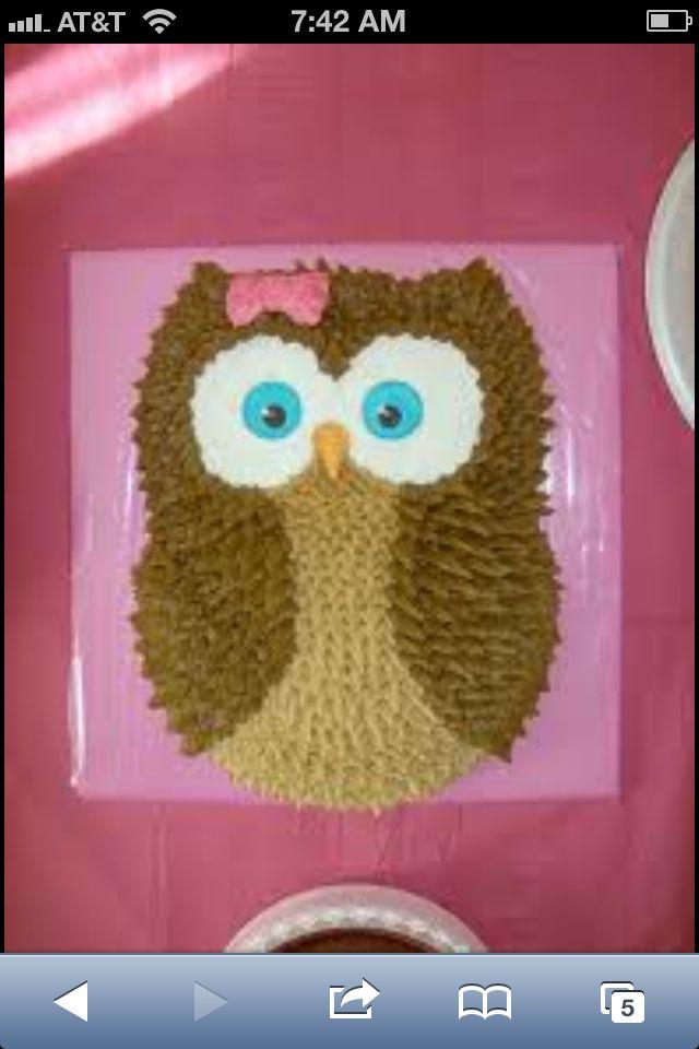 Diy Owl Cake Owl Birthday Party Pinterest Owl Cakes Owl And Cake