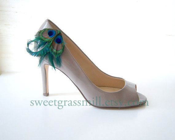 www.sweetgrassmill... wow they have tons of peacock feather hair, shoe things to look at