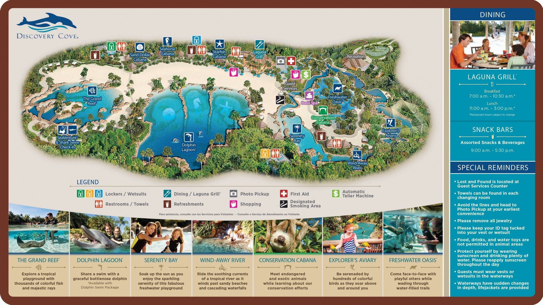 Discovery Cove Map Discovery Cove Orlando Map Cove