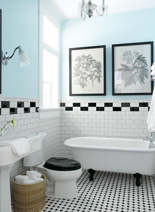 Bagno bianco nero 521 712 kitchen pinterest art deco bathroom bath and black - Bagno bianco nero ...