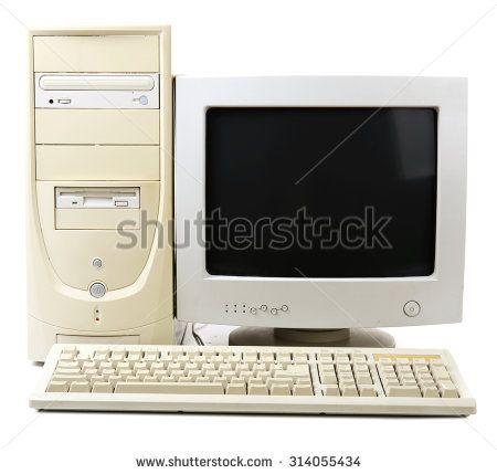 Old Desktop Computer Illustration Old Computers Computer Computer Sticker