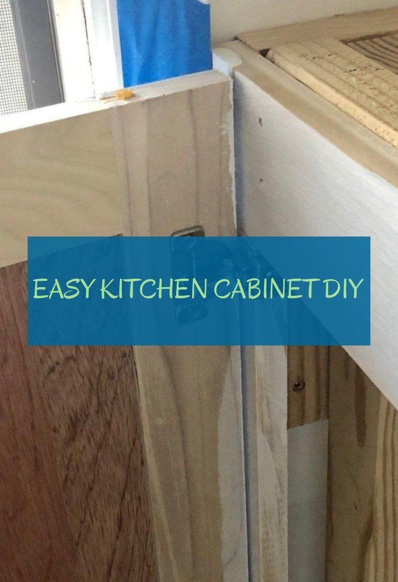 easy kitchen cabinet diy