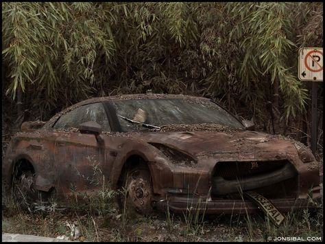 Old Cars Fake Wrecks Nissan Rust Vehicles Rusted Nissan Gtr R35 1024x768 Wallpaper Wallpaper Hd Nissan Gtr Car Vehicles