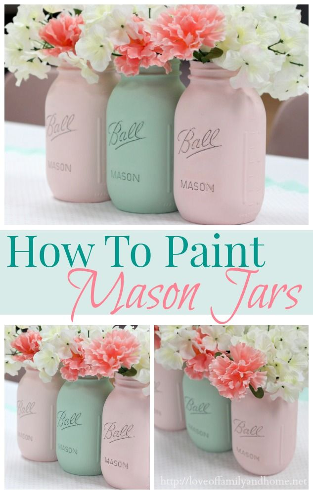 How to paint mason jars A step by step