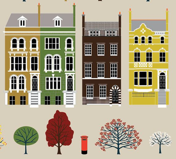 London Row Houses Art Print | Apartment guide, House and ...