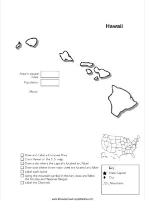 Hawaii Geography Worksheet | Geography | Pinterest | Geography ...