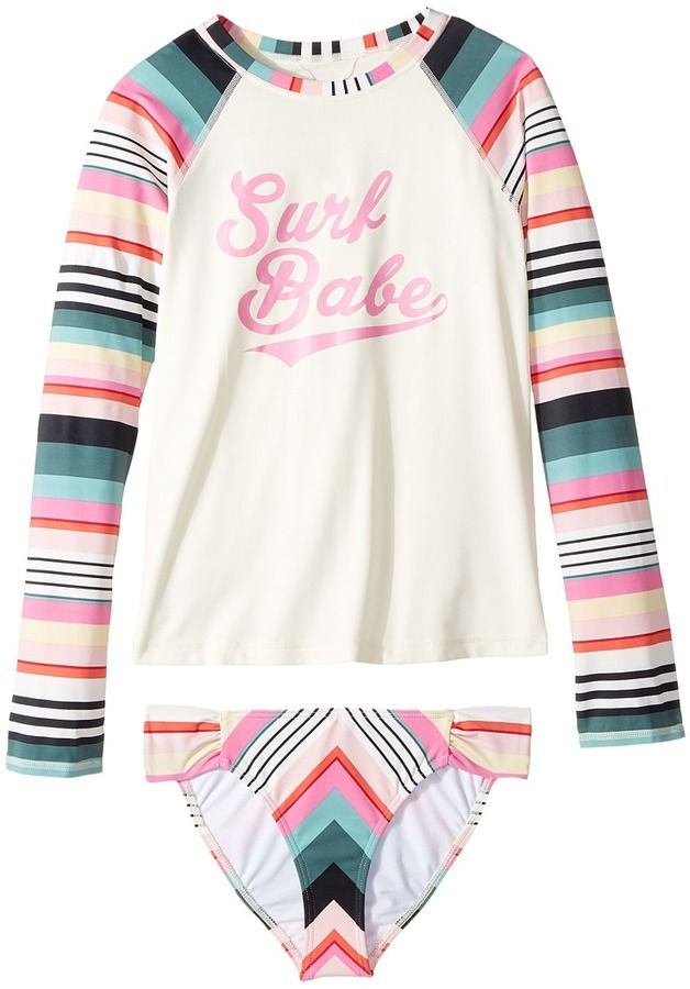 4d1c1c4b5 Billabong Kids - Sun Faded Rashguard Set Girl s Swimwear Sets ...