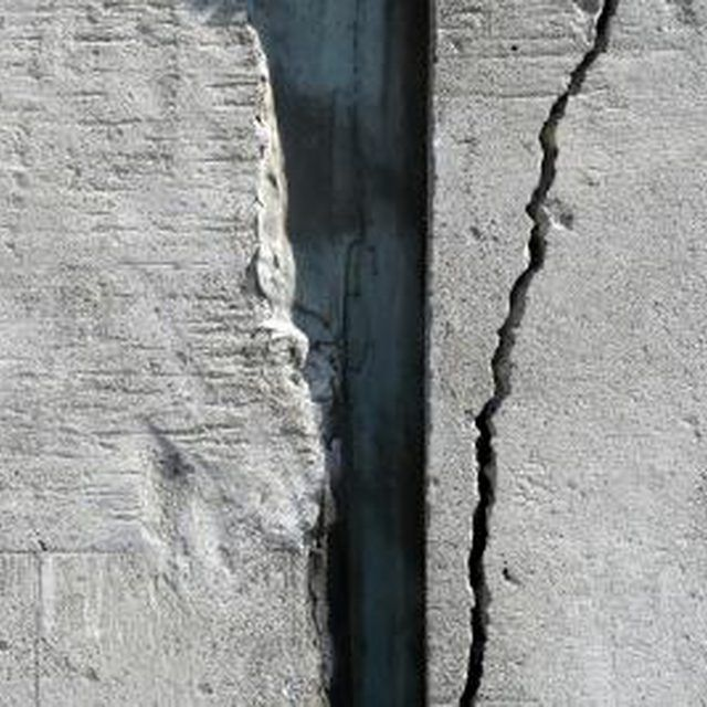 Repairing Cracks In A Cinder Block Basement Hunker Concrete Block Walls Concrete Wall Fix Cracked Concrete